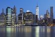 View of New York City Manhattan midtown at dusk