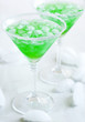 """Cocktail """"Foggy London Town"""". Green cocktail"""