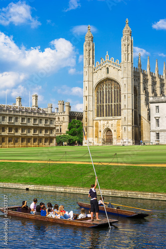 Canvas Kings College in Cambridge University, England