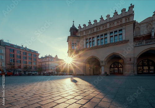 Sunrise in Krakow. Poland