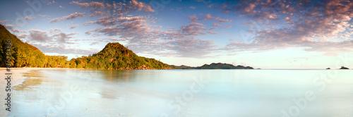 Fotografie, Obraz  Tropical sunrise on the beach Seychelles