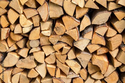 Aluminium Prints Firewood texture Fire wood stack