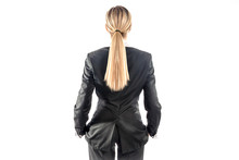 Business Woman Standing Back T...