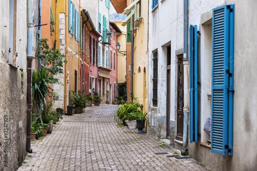 obraz PCV Stare miasto ulicy w Villefranche-sur-Mer