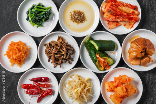 Fotografía  韓国の漬け物 集合  Korean pickle group photo