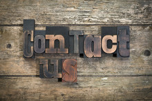 Contact Us, Phrase Written Wit...