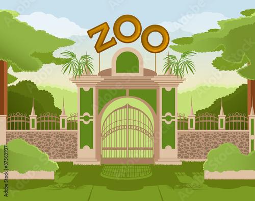 Fotografie, Obraz  Zoo gate