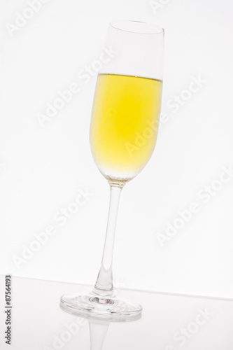 Foto op Canvas Alcohol Glass on white background
