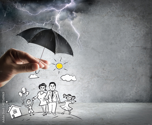 life and family insurance - safety concept  Wall mural