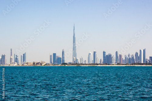 Fotografie, Obraz  Burj Khalifa and other skyscrapers sea view