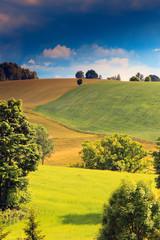 Panel Szklany Podświetlane Wiejski Mazurski Krajobraz