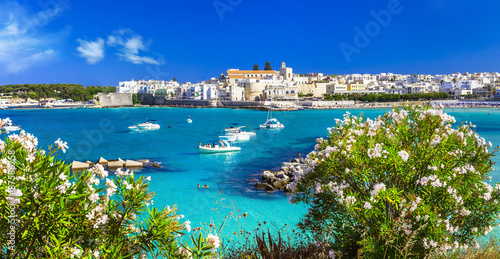Italian vacation - Otranto in Puglia with cristal waters Canvas Print