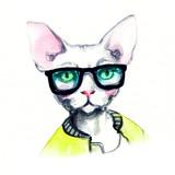 fashion animal .watercolor illustration - 87593557