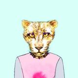 fashion animal .watercolor illustration - 87593560