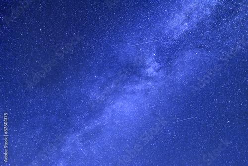 Fotobehang Donkerblauw Starry sky.