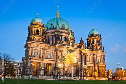 Evening view of Berlin Cathedral, Germany Poster