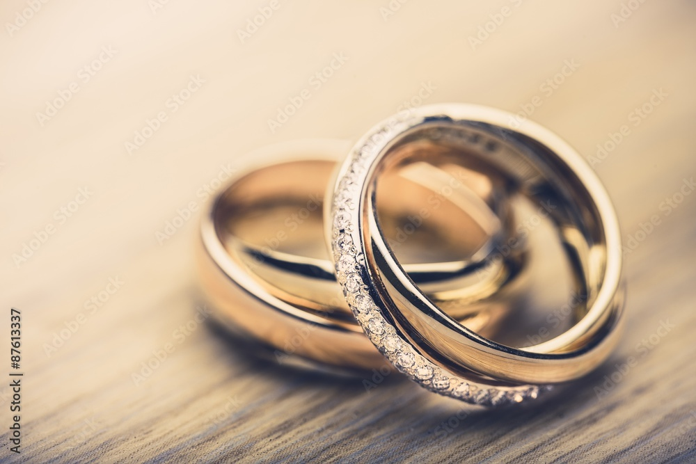 Fototapety, obrazy: Ring, bands, proposing.