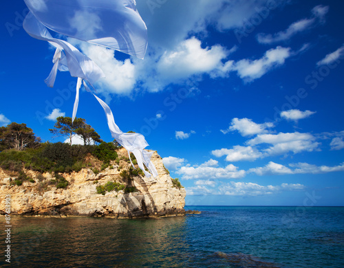 Foto op Aluminium Cathedral Cove small island in Greece, Zakynthos
