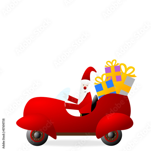 Weihnachtsmann Im Auto Buy This Stock Vector And Explore Similar
