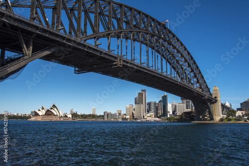 Staande foto Sydney Sydney Opera House, Harbour Bridge and downtown, Australia