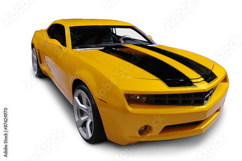 Plakat  Yellow American Sports Car