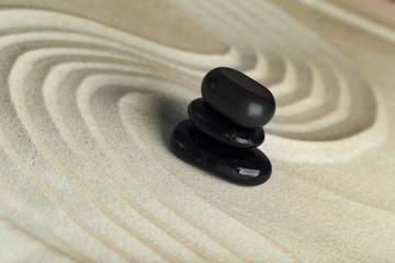 Fototapeta na wymiar Zen garden with stones for relaxation