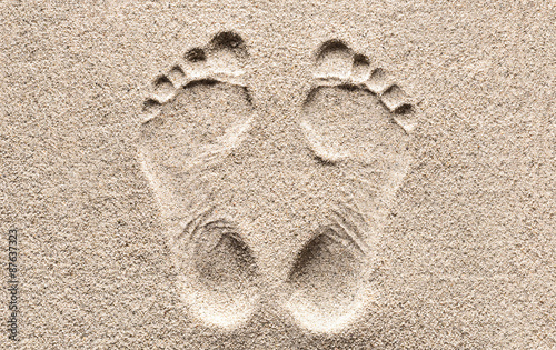 Print. Footprint in the Sand.