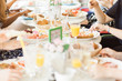 canvas print picture - Eating Brunch
