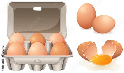 Fototapeta Fresh eggs obraz