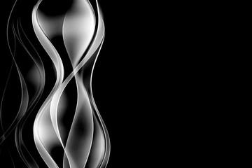 abstrakcyjne srebrne fale czarne tło