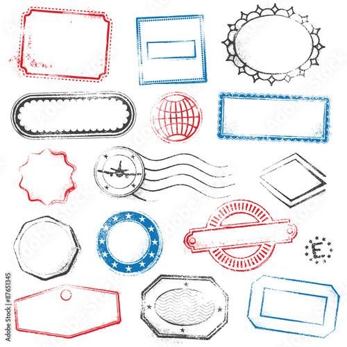 Fotografía  High Detail Generic vector Stamps