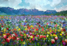 Oil Painting Colorful Spring S...