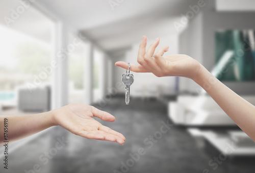 Consegna chiavi casa in mano interno Wallpaper Mural