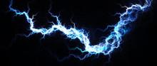 Abstract Of Hot Blue Lightning...