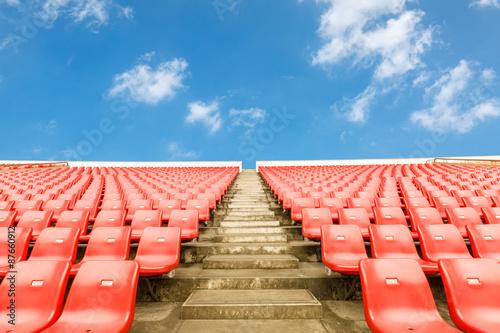 Aluminium Prints Stadion Empty seats at the Stadium