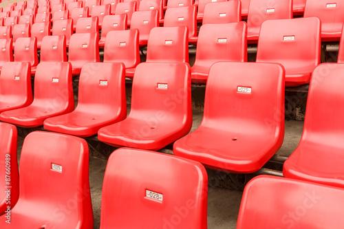 Fotobehang Stadion Empty seats at the Stadium