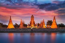 Old Temple Wat Chaiwatthanaram...