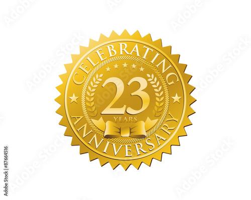 Fotografia  anniversary logo golden emblem 23