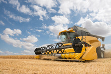 Close View Of Modern Combine H...
