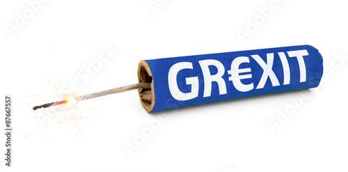 Obraz na plátně  Grexit / Greece Exit