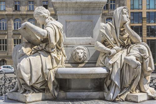 Staande foto Artistiek mon. Statue of Friedrich Schiller near Concert Hall, Berlin, Germany.