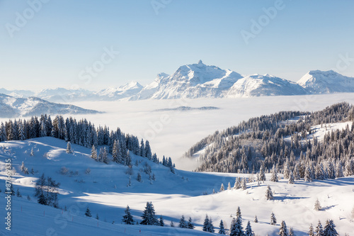 Papiers peints Alpes Aravis Mountain Range from Les Gets