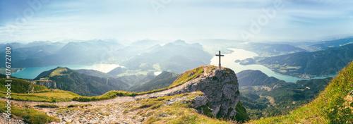 Spoed Foto op Canvas Alpen Sonnenaufgang am Schafberg, Salzkammergut