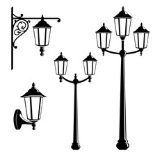 Graphic Vintage Street Lantern