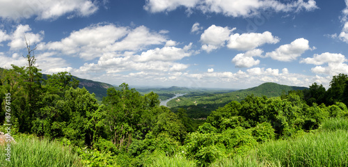 Fotografie, Obraz  View at Lake Lure in North Carolina from Chimney rock mountain