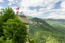 Overlooking Chimney Rock At Ch...