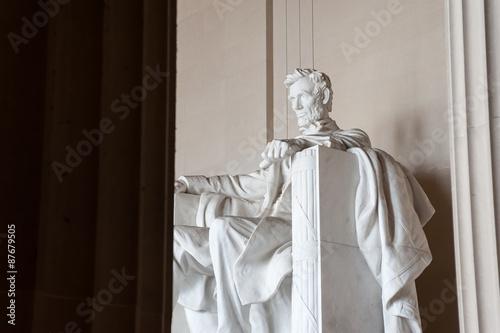 Fotografia  Statue of Abraham Lincoln, Lincoln Memorial, Washington DC