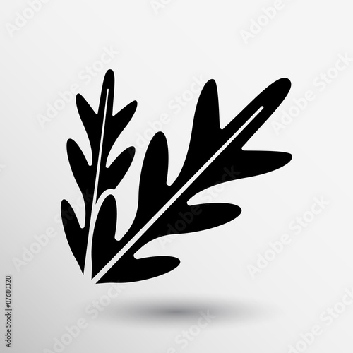 arugula foliage logo element icon food vegetarian Canvas Print