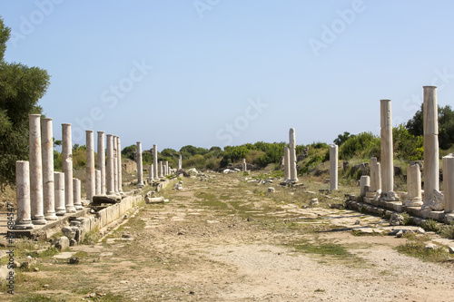 Foto op Aluminium Rudnes The ruins of the ancient city of Side in Turkey