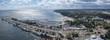 Leinwandbild Motiv Panorama of Gdynia Kosciuszko harbor, Poland